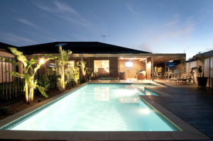 Pool Deck at Dusk - Fine Angle Photography